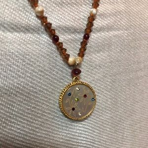 Jewelry - Brown and gold seed bead necklace